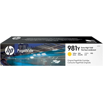 HP 981Y Yellow PageWide Ink Cartridge (L0R15A), Extra High Yield