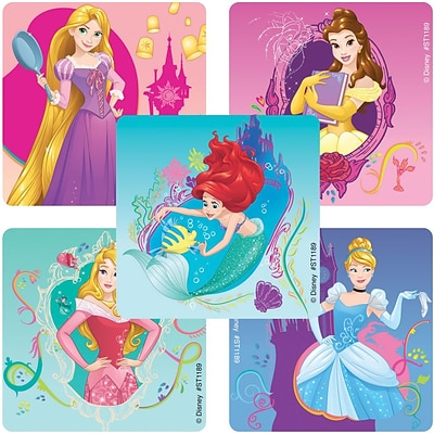 "SmileMakers® Disney Princess Enchanted Stickers; 2-1/2""H x 2-1/2""W, 100/Box"