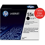 HP 55X Black Toner Cartridge (CE255X); High Yield
