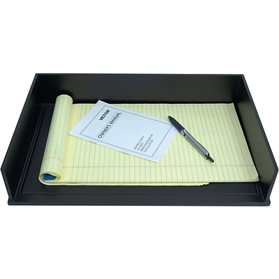 Victor Technology Wood Midnight Black Stackable Legal Size paper Letter Tray (1168-5)