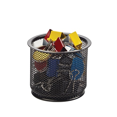 Quill Brand® Black Mesh Coordinating Desk Set; Doodad Cup