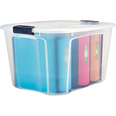 Locking Contemporary Container; 71qt., Clear Lid