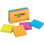 Post-it® Super Sticky Notes, 2 x 2, Rio de Janeiro Collection, 8 Pads/Pack