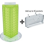 Azar Displays 13H x 4W x 4D Pegboard Counter Gift Card Holder Green