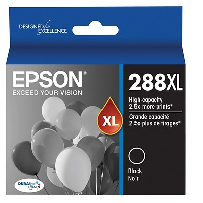 Epson T288XL Black DuraBrite Ultra Ink Cartridge, (T288XL120) High Yield
