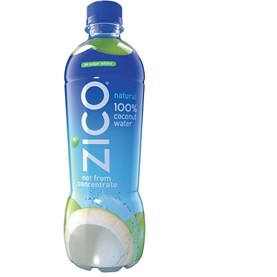 Zico Natural Coconut Water 16.9 Ounce Bottle, Pack of 12 (00812186020426)