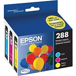 Epson T288 Color C/M/Y DuraBrite Ultra Ink Cartridges; (T288520)  (3 cart per pack)