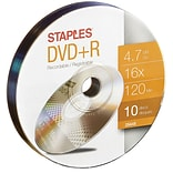 10PK DVD-R 16X 4.7GB Puck