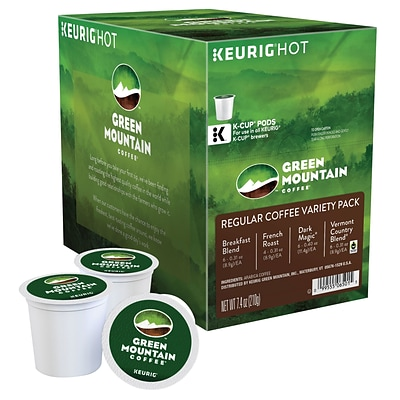 Green Mountain Regular Variety Pack Coffee, Keurig K-Cup Pods, Variety Pack Roast, 22/Box (6501)