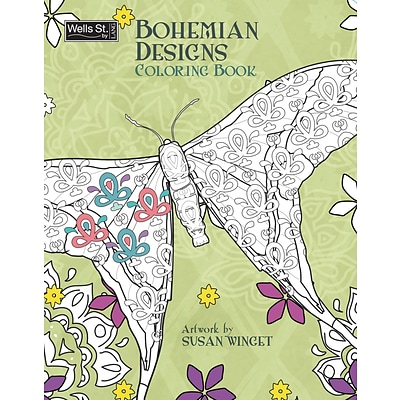 Wells St. by Lang Bohemian Designs Adult Coloring Book