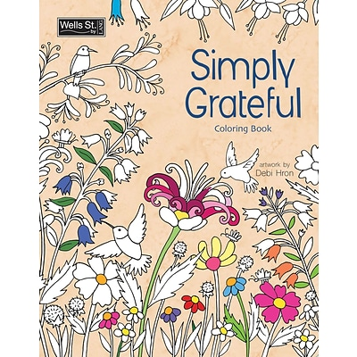 Wells St. by Lang Simply Grateful Adult Coloring Book