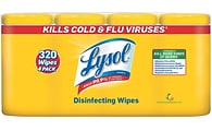 Lysol® Disinfecting Wipes; Lemon and Lime Blossom Scent, 80 Wipes/Tub, 4/Pack