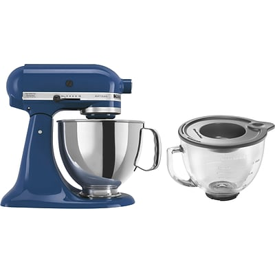 325-Watt Tilt-Back Stand Mixer with Stainless Steel Bowl and Glass Bowl - Willow Blue
