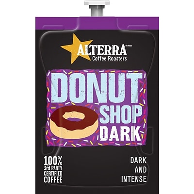 Alterra Donut Shop Dark Coffee Cartridge, 28 Oz., 100/Ct
