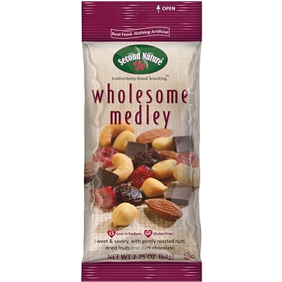 Second Nature Trail Mix Wholesome Medley, 2.25 Oz., 12/Ct