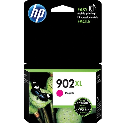 HP 902XL Magenta Ink Cartridge, High Yield (T6M06AN#140)