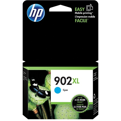 HP 902XL Cyan Ink Cartridge (T6M02AN#140), High Yield