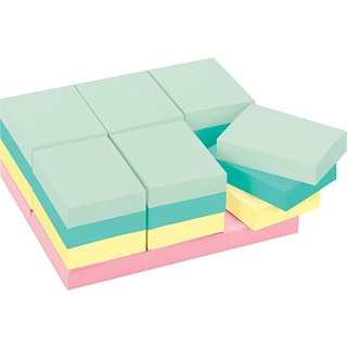 Post-it® Notes, 1 1/2 x 2, Marseille Collection, 24 Pads/Pack (653-24APVAD)
