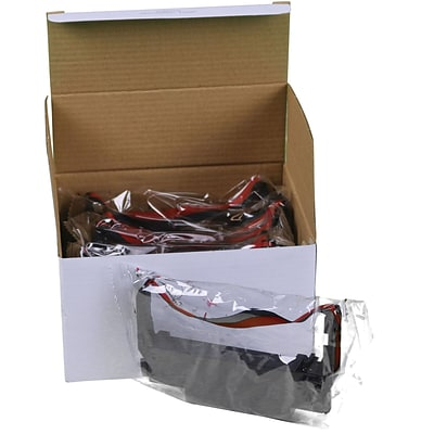 Compatible Epson ERC 30/34/38 Ribbon Black/Red, 6 Ribbons/Ctn
