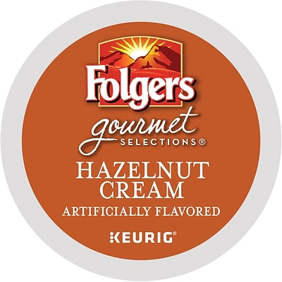 Folgers® Hazelnut Cream Coffee, Keurig® K-Cup® Pods, Medium Roast, 24/Box (20162)
