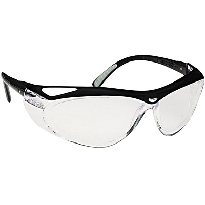 Jackson Envision™ Safety Glasses Clear FogGard® Plus, Adjustable For Custom Fit, Black