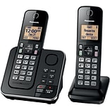 Panasonic KX-TGC362B Expandable Cordless Phone with Answering System and 2 Handsets, Black