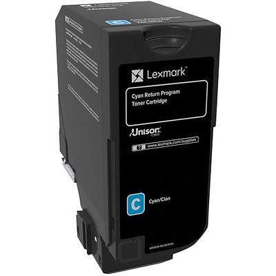 Lexmark CS720, CS725, CX725 Cyan Return Program Toner Cartridge