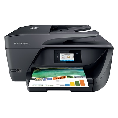 HP® OfficeJet Pro 6968 Color All-in-One Inkjet Printer (T0F28A)