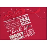 Holiday Expressions® Holiday Cards; Many Thanks, Gummed Envelopes