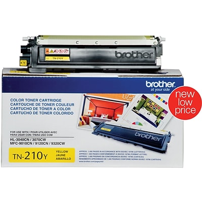 Brother Genuine TN210Y Yellow Original Laser Toner Cartridge