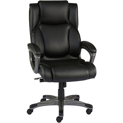 Quill Brand® Washburn Bonded Leather Office Chair, Black