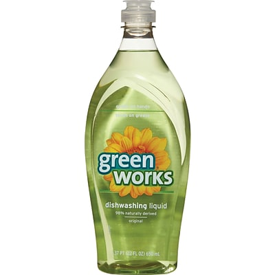 Green Works® Dishwashing Liquid, Original, 22 Fluid Ounces, 6/CT