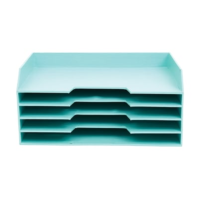 Office by Martha Stewart™ Stack+Fit™ File Sorter, Blue (29570)