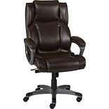 Quill Brand® Washburn Bonded Leather Office Chair, Brown