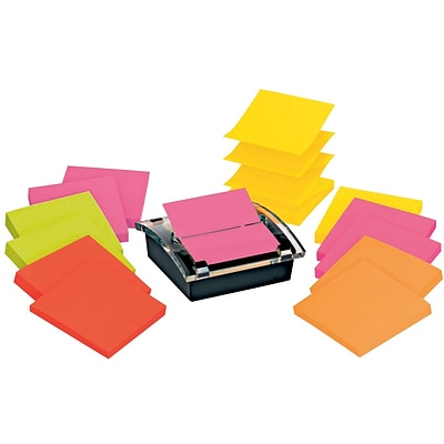 Post-it® Pop-up Dispenser for 3 x 3 Notes, Black, 12 Pads/Pack (DS330-SSVA)