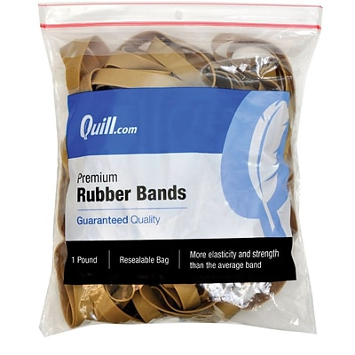 Quill Brand® Premium Rubber Band, #107, 7 x 5/8, 1 lb. Bag (90107/790107)