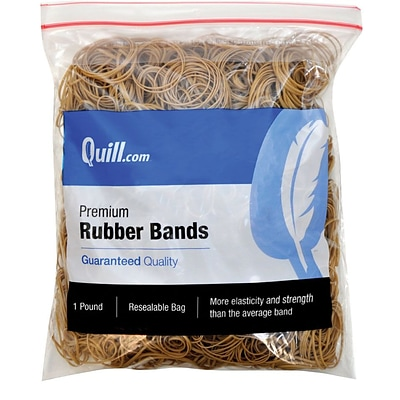 Quill Brand® Premium Rubber Bands, #16, 2-1/2L x 1/16W, 1 lb Resealable Bag