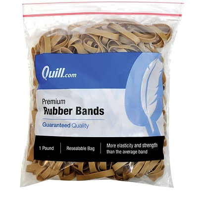 Quill Brand® Premium Rubber Bands; #17, 2-3/4L x 3/8W, 1 lb. Resealable Bag