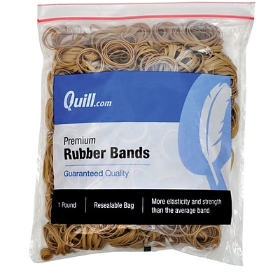Quill Brand® Premium Rubber Bands; #30, 2L x 1/8W, 1 lb Resealable Bag