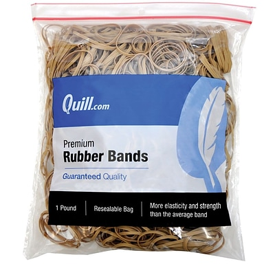 Quill Brand® Premium Rubber Band, #31, 2-1/2 x 1/8, 1 lb. Bag (90031)