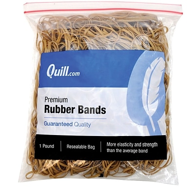 Quill Brand® Premium Rubber Bands, #32, 3L x 1/8W, 1 lb Resealable Bag