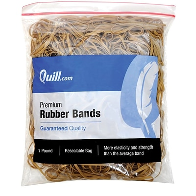 Quill Brand® Premium Rubber Band, #33, 3-1/2L x 1/8W, 1-lb Resealable Bag (790033)