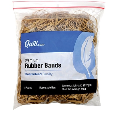 Quill Brand® Premium Rubber Bands, #54, Assorted Sizes, 1 lb Resealable Bag