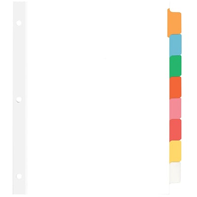 Quill Brand® Mak-UR-Own Write-On® Big Tab Indexes- Dividers; 8-Tab, Assorted