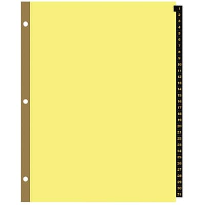 Quill Brand® 1-31 Index, Leather-Like Tabs, Buff Stock (7BL31)