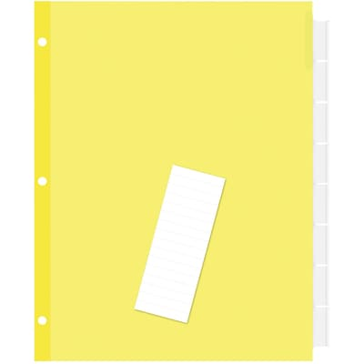 Quill Brand® Extra-Wide Indexes- Dividers; Clear; 8-Tabs/Set