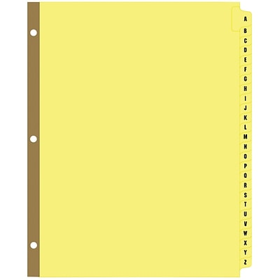Quill® A-Z Index; Mylar-Reinforced Tabs; Buff Stock