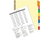 Quill Assorted. 8 Big Tab Indexes F/Printers