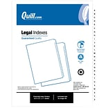 Legal Size 26 Sheets/Set A-Z Index