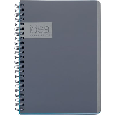 Oxford Idea Collective Professional Notebook, 8 x 4-7/8, College Ruled, 80 Sheets, Gray (57010IC)